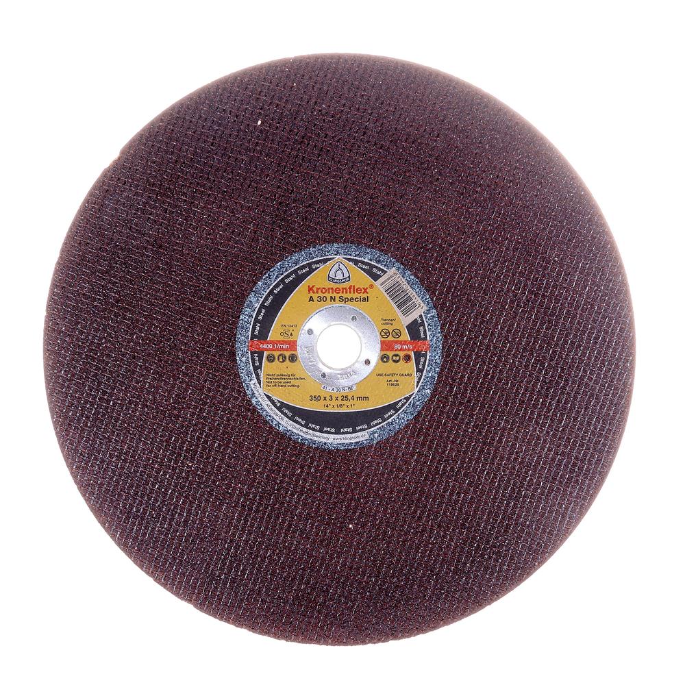 Disc debitare otel, Klingspor  Kronenflex A 30 N Special, 350 x 25.4 x 3 mm