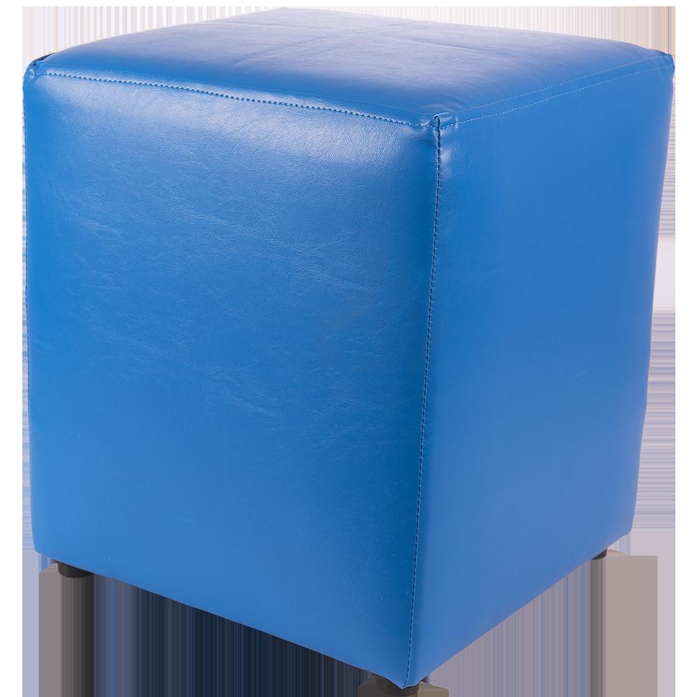 Taburet Cube tapiterie piele ecologica albastru IP 21898 45x37x37 cm