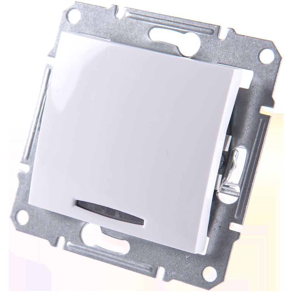 Intrerupator simplu cu LED, Sedna imagine MatHaus.ro