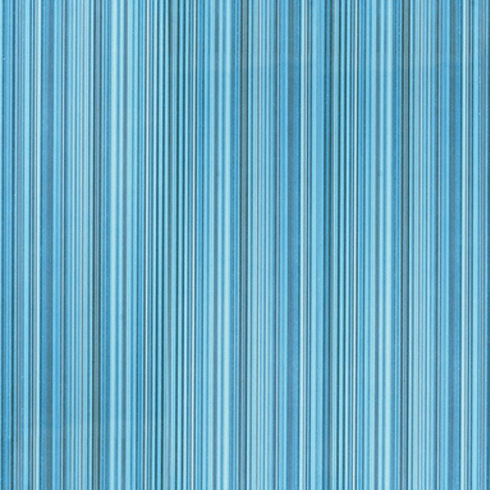 Gresie portelanata interior Kai Ceramics Sorel albastru, model cu dungi, finisaj lucios, patrata, 33,3 x 33,3 cm