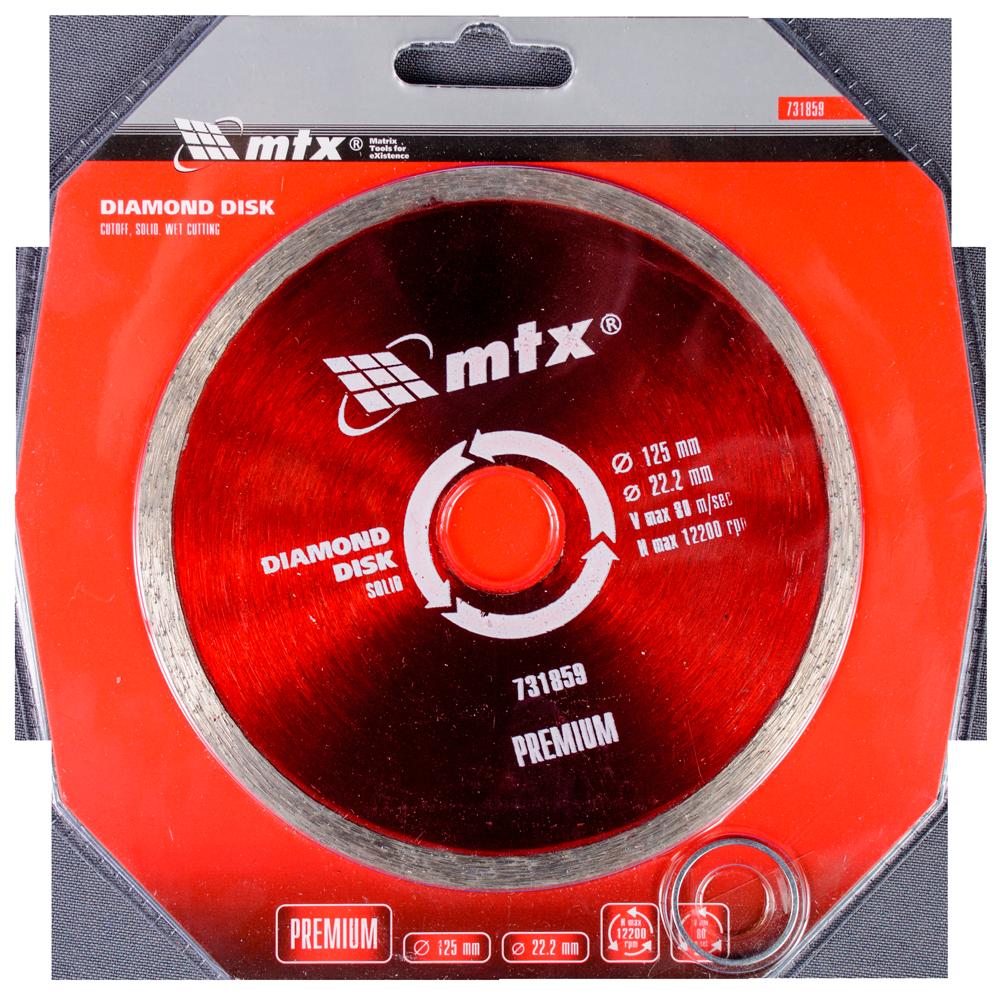 Disc diamantat pentru taiere umeda MTX PREMIUM, 125 x 22,2 mm imagine MatHaus.ro