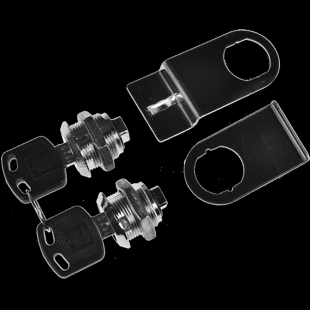 Incuietoare cu 2 cilindrii pentru mobilier, otel cromat, Ø 19 mm imagine MatHaus