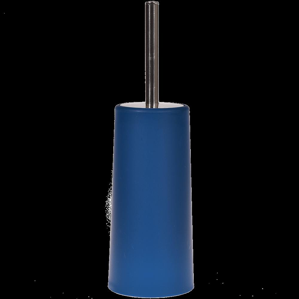 Perie WC Romtatay Slim, polipropilena/metal inoxidabil, albastru, 10 x 22 cm imagine 2021 mathaus