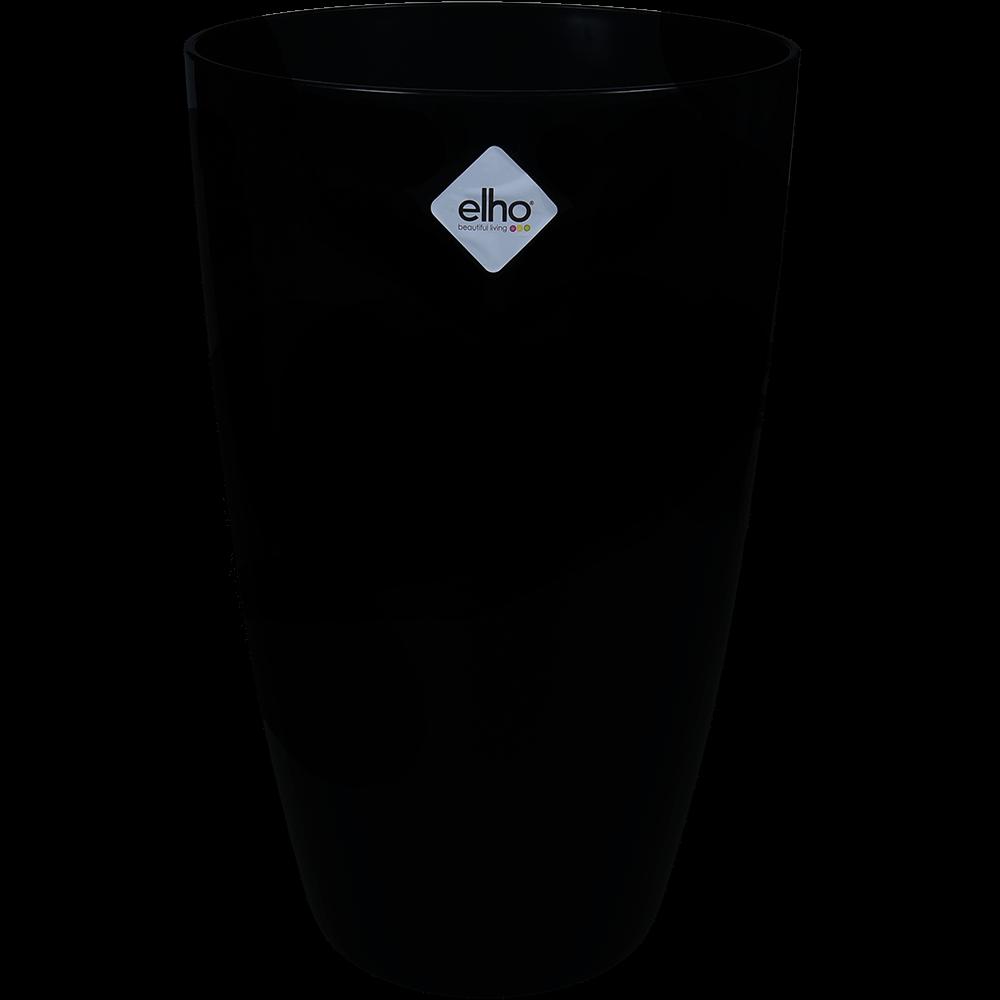 Masca ghiveci din plastic Brussels diamond inalta, negru, diametru 27 cm