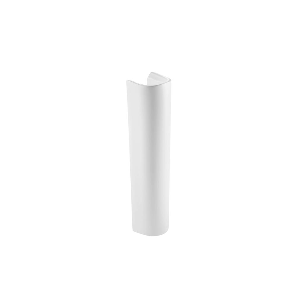 Piedestal pentru lavoar Roca Debba, ceramica sanitara, alb, 140 x 180 x 720 mm imagine 2021 mathaus