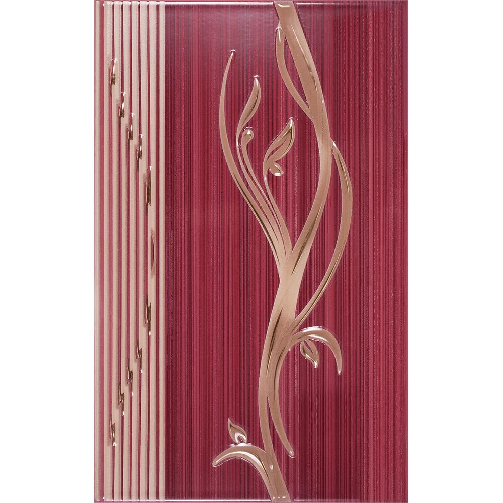 Faianta decorativa Kai Ceramics Sorel, bordo, finisaj estetic, lucioasa, 25 x 40 cm