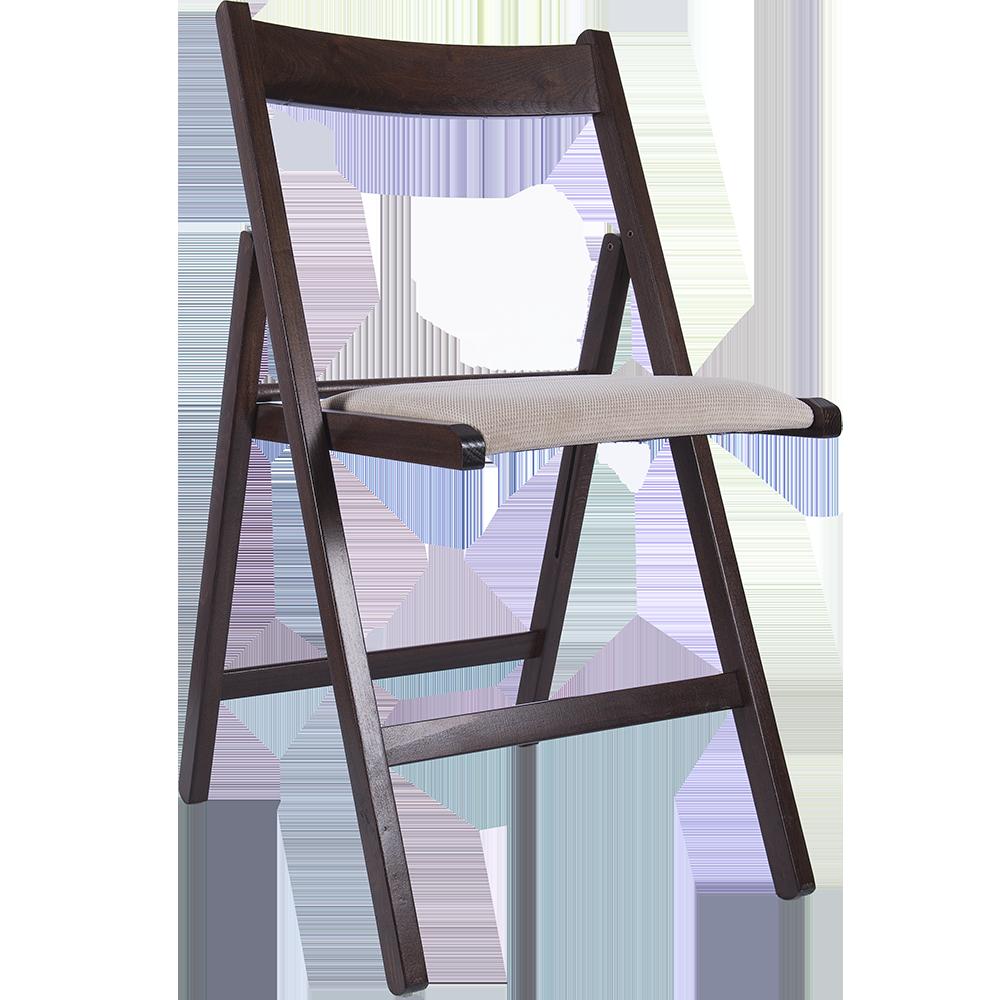 Scaun pliant Basic din lemn de fag, culoarea wenge, sezut tapitat stofa wenge K8, 78x43cm mathaus 2021