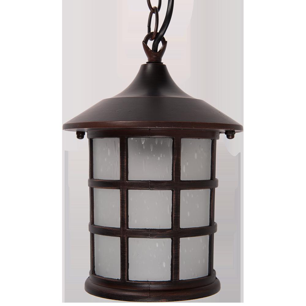 Pendul iluminat suspendat exterior Altanta 7 Brun, 60 W