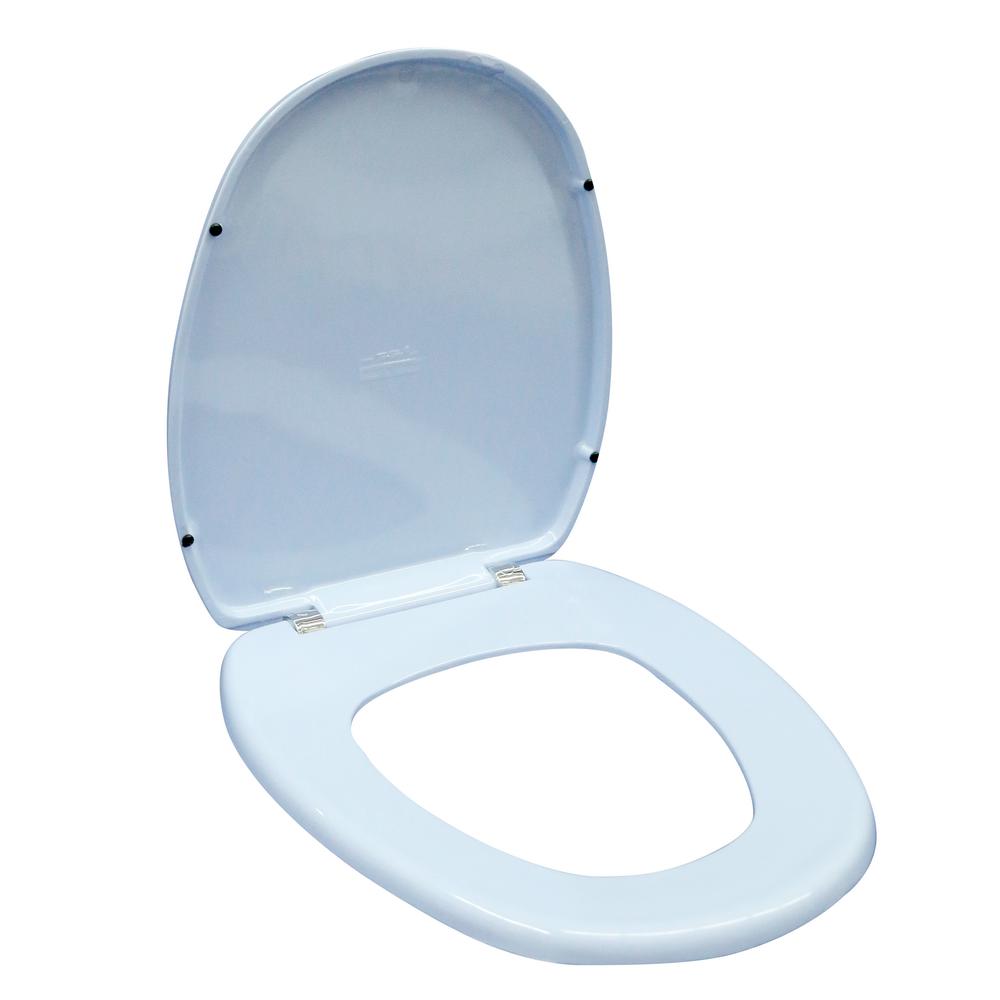 Capac WC Germania, polipropilena, bleu, 37.7x43x5 cm