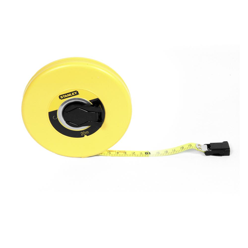 Ruleta 20m cu banda din fibra de sticla Stanley imagine 2021 mathaus