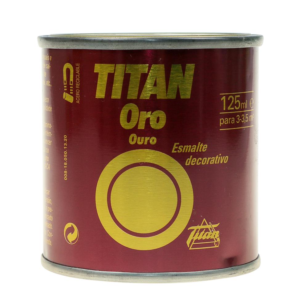Vopsea decorativa Titan Oro, auriu, interior, 0,125 l imagine MatHaus.ro