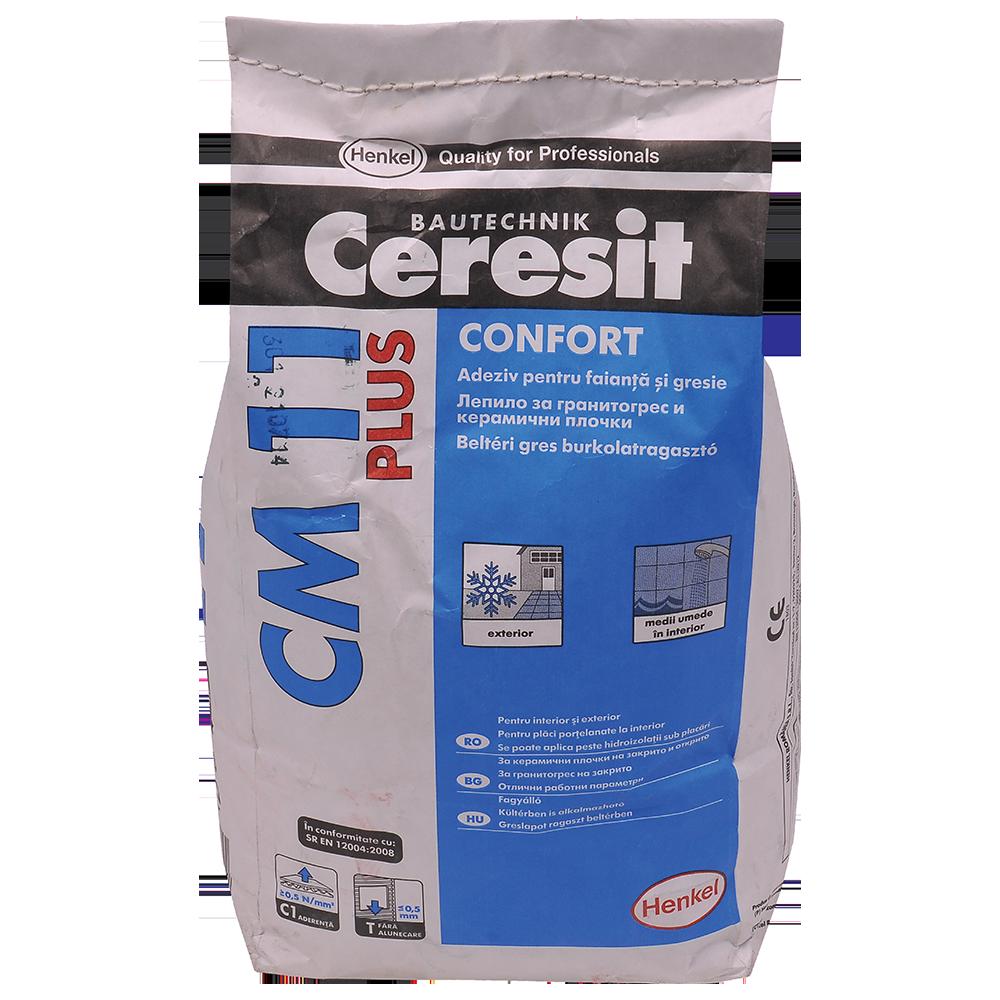 Adeziv gresie si faianta Ceresit CM 11 Plus, gri, pentru interior/exterior, 5 kg mathaus 2021