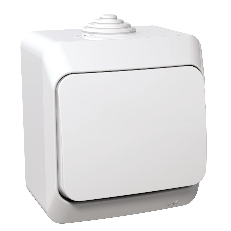 Intrerupator cruce Scheinder WDE000570, IP 44, alb imagine MatHaus.ro