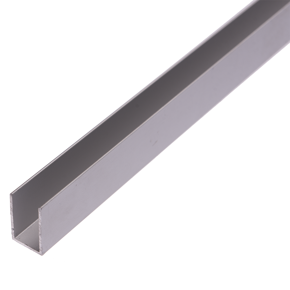 Profil tip U, aluminiu, 12,5 x 20 x 1 mm, L 2 m imagine 2021 mathaus