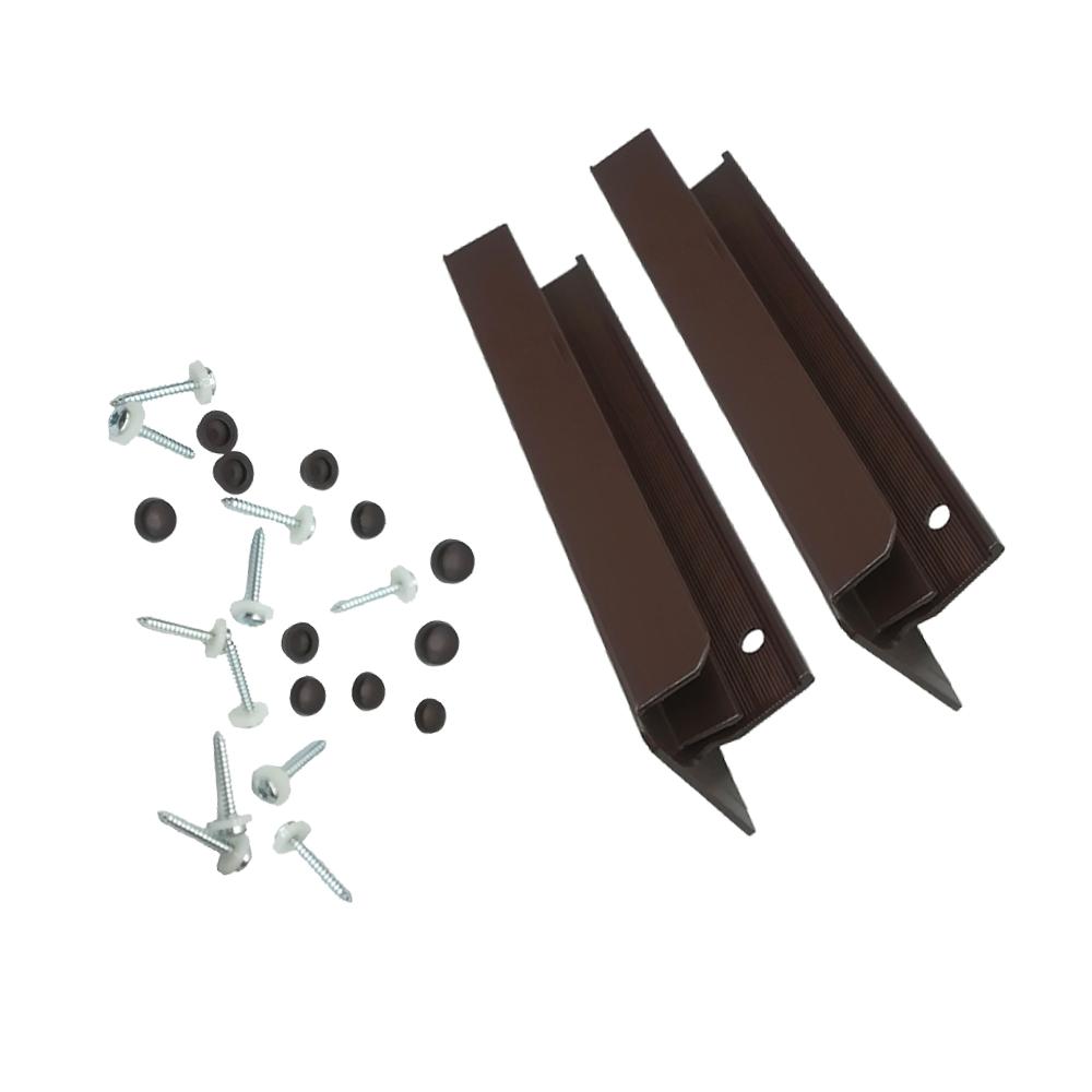 Set accesorii pentru glafuri din aluminiu, L: 18 cm, RAL 8017 imagine MatHaus.ro