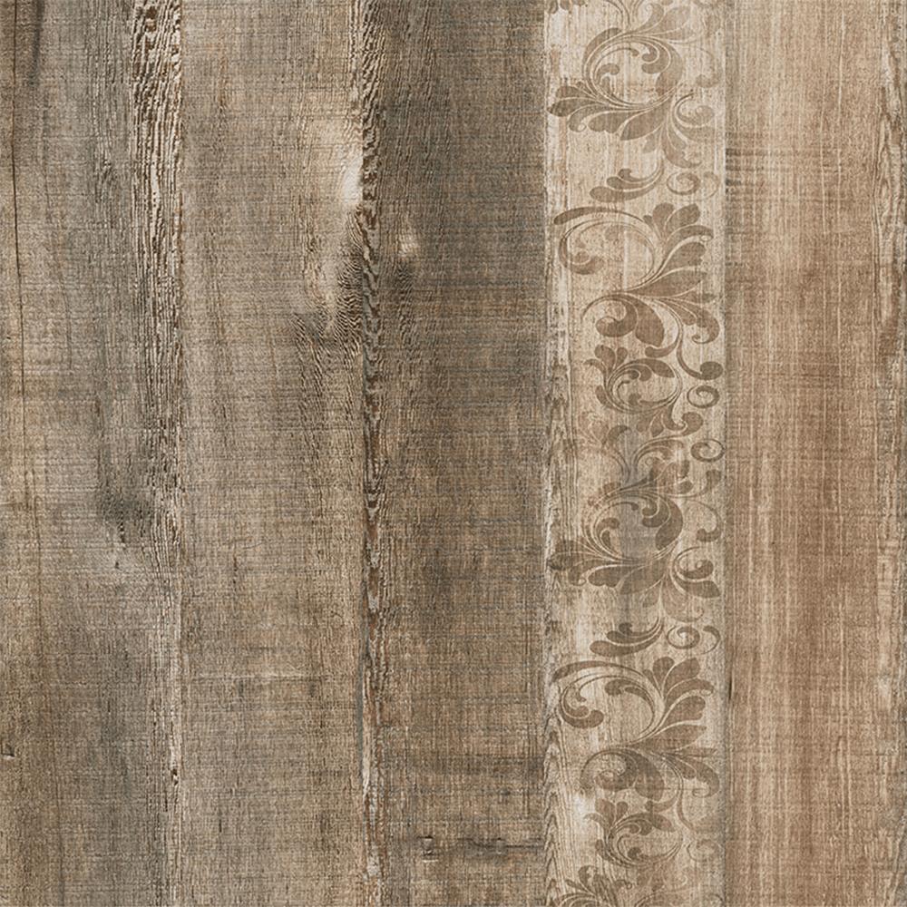 Gresie tip interior portelanata interior Kai Ceramics Atelier, maro, aspect de lemn, finisaj mat, 45 x 45 cm