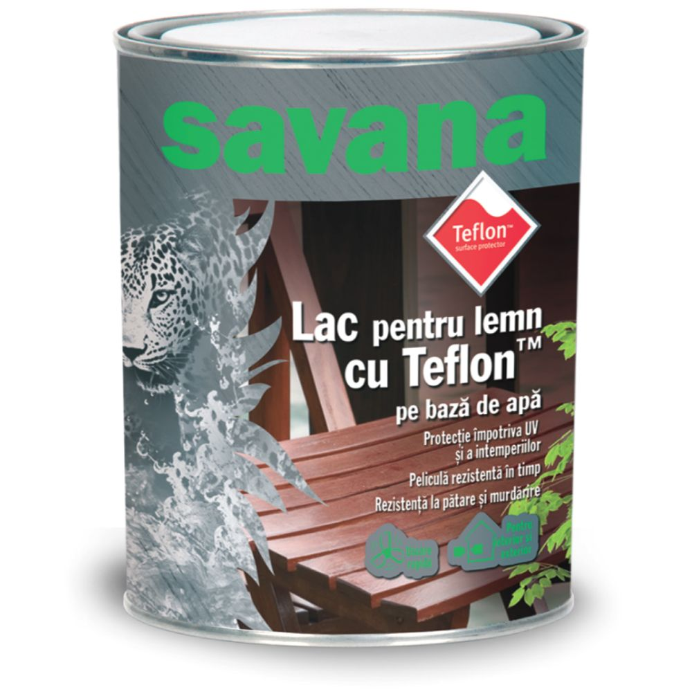 Lac pentru lemn Savana, incolor, pe baza de apa, interior / exterior, 2.5 L imagine 2021 mathaus