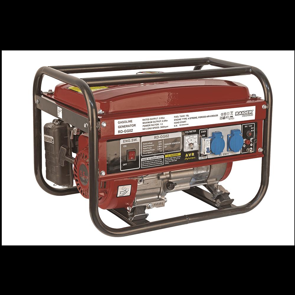 Generator benzina Raider RD-GG02 2000 VA, rezervor 14 l, 220 V imagine MatHaus.ro
