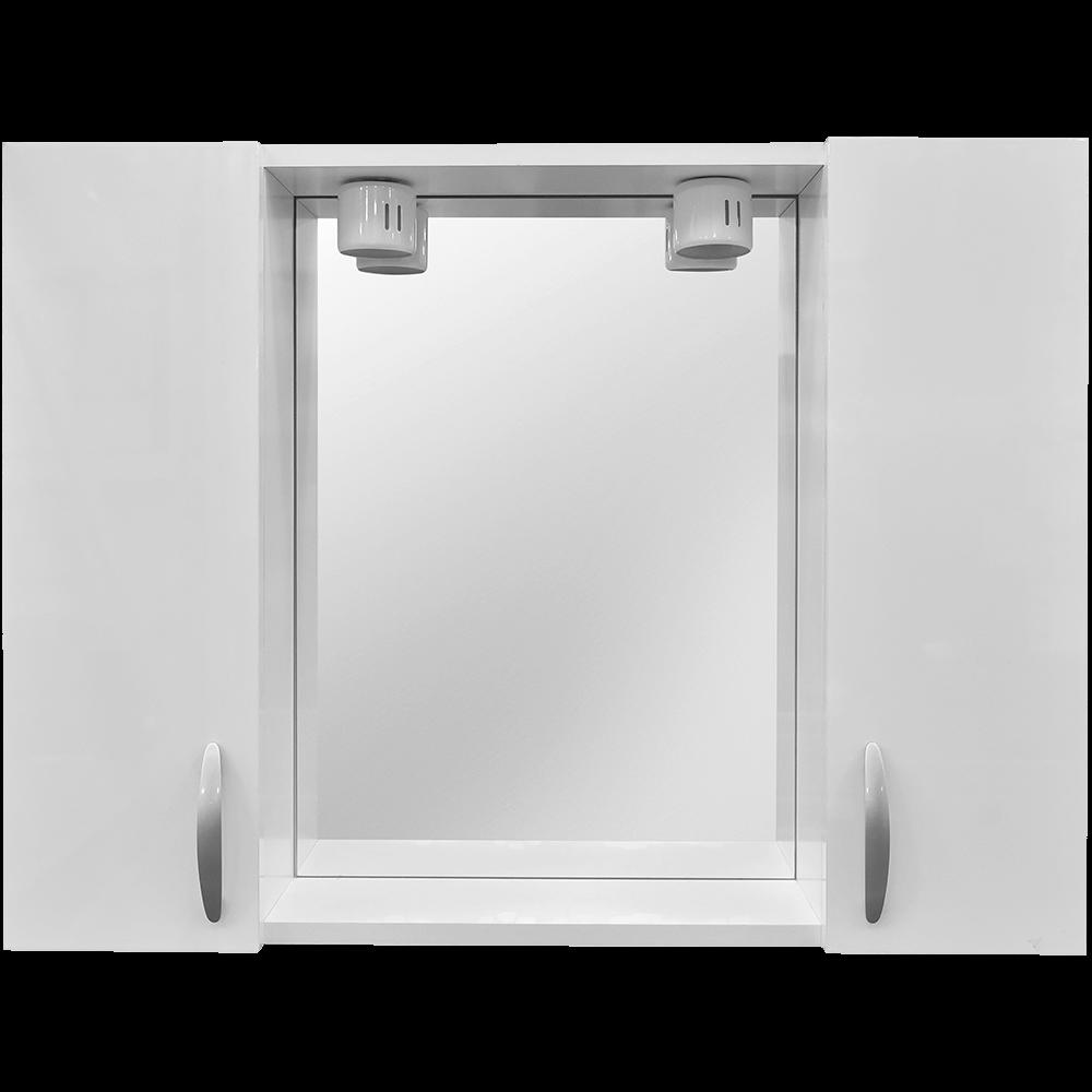 Oglinda baie Savini Due model 960/00, 2 becuri,  MDF, alb
