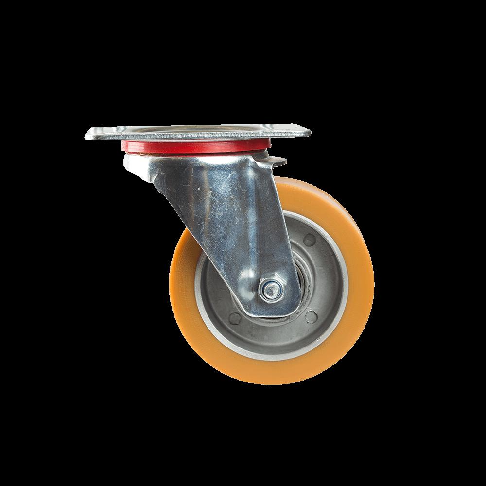 Rola pivotanta cu placa, poliuretan, 100 x 38 mm, 180 kg mathaus 2021