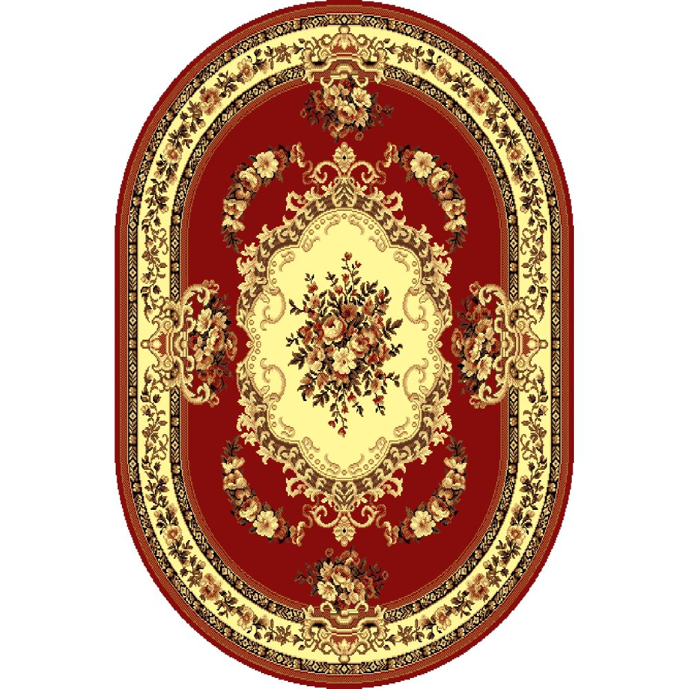 Covor clasic Gold 047/22 O, polipropilena BCF, rosu-bej, 50 x 80 cm mathaus 2021