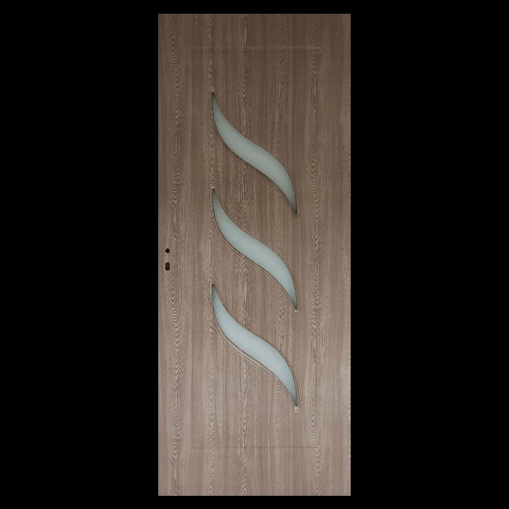 Usa de interior cu geam Pamate M02, gri, 200 x 80 cm + toc 10 cm imagine MatHaus