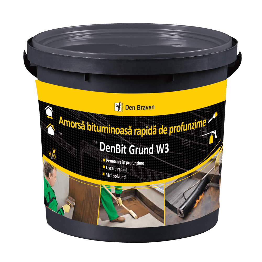 Amorsa bituminoasa, Den Braven Bit Grund, negru, interior/exterior, 5 kg mathaus 2021