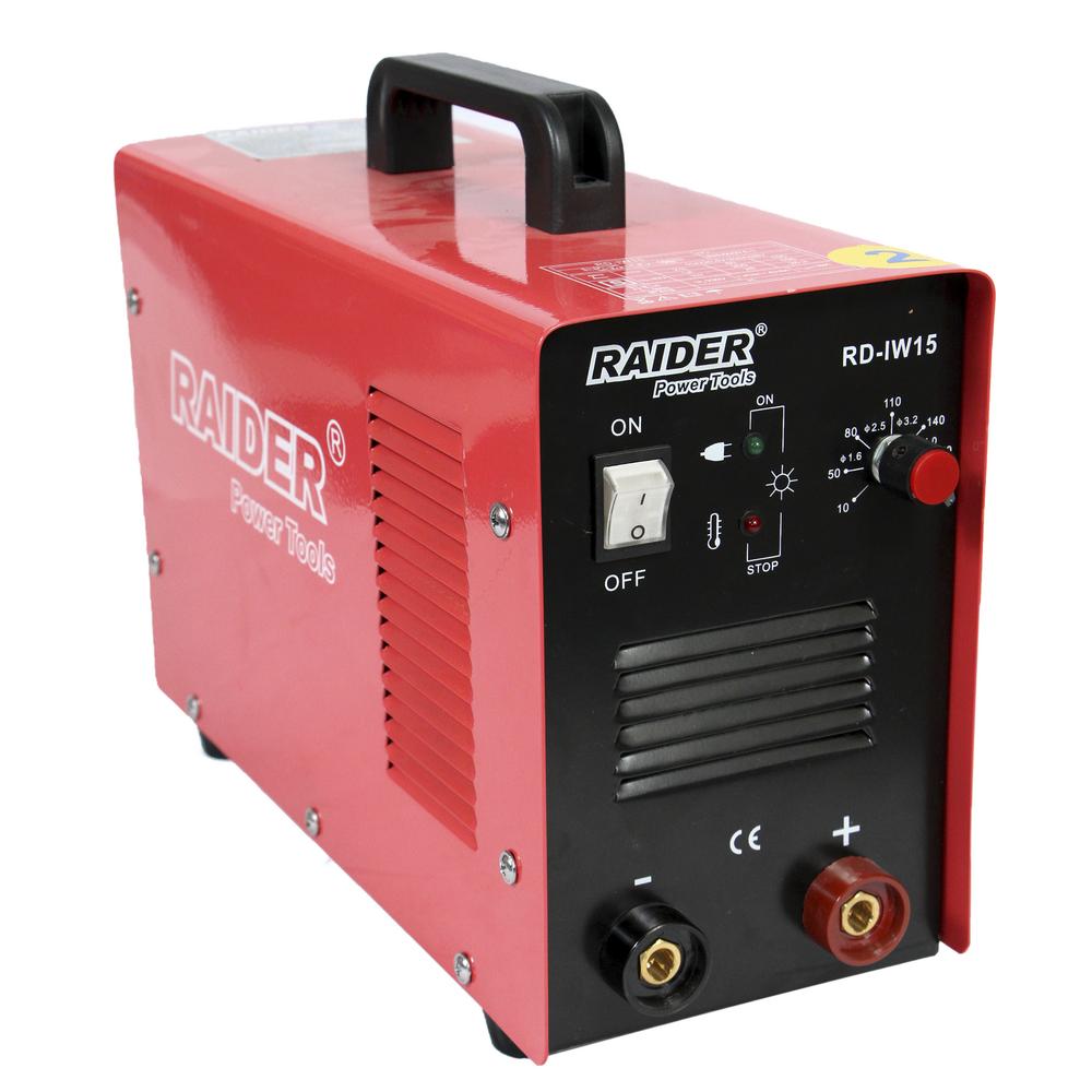 Invertor sudura Raider Rd-Iw15, reglaj curent, indicator de supraincalzire, 230 V imagine 2021 mathaus