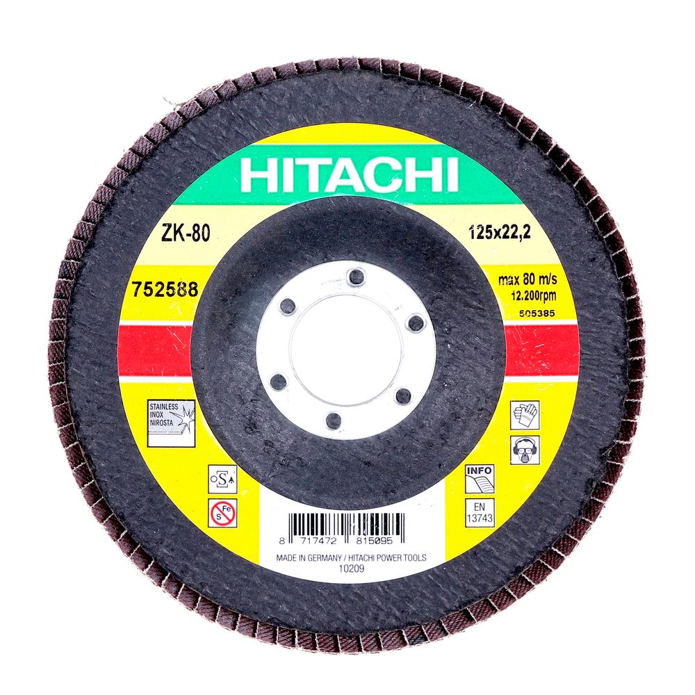 Disc Flapsuri Pentru Slefuit Hitachi 752588 125 X 22,2 X 9 mm mathaus 2021