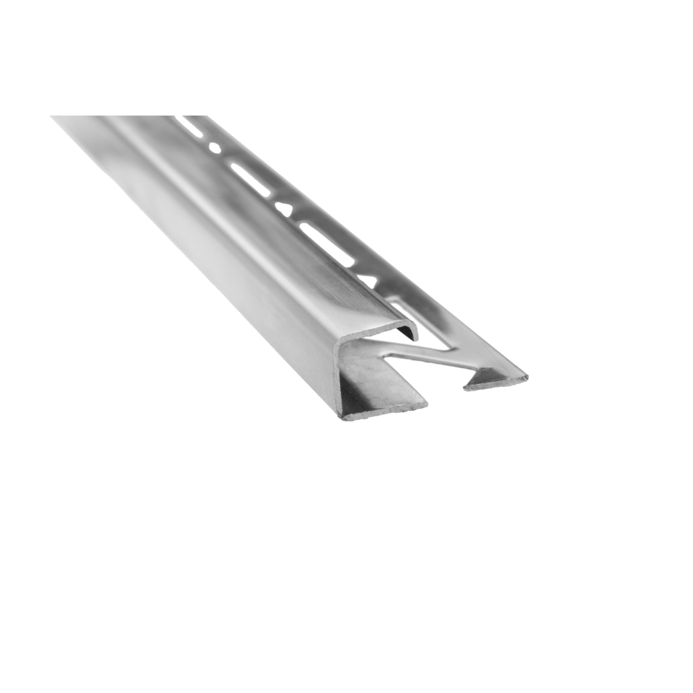 Profil de terminatie pentru faianta/gresie Pawotex inox, argintiu, 2500 mm