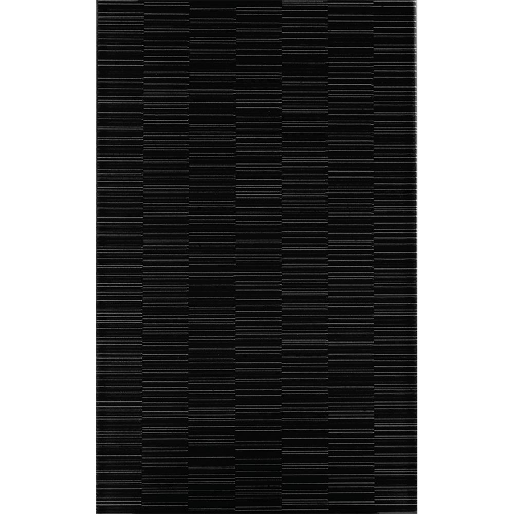 Faianta Kai Ceramics Linea , negru, lucioasa, 25 x 40 cm imagine MatHaus.ro
