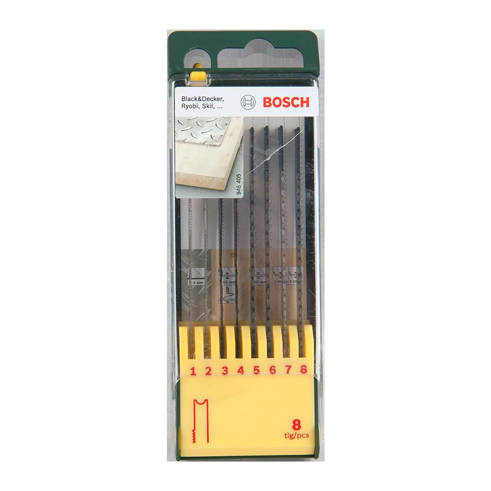 Set 8 Panze Lemn-Metal Bosch 2607019459 imagine 2021 mathaus