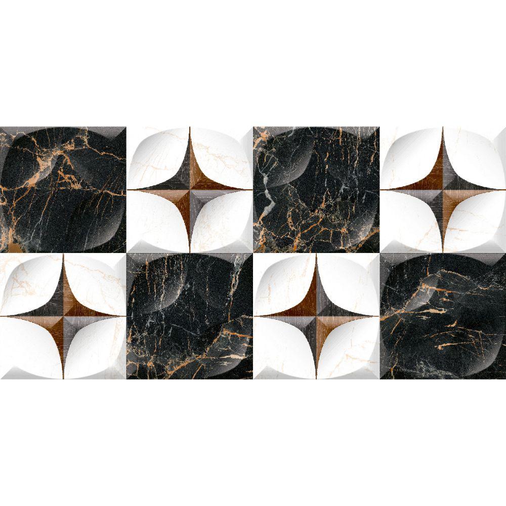 Faianta 1145 HL1 alb-negru, rectificata, lucioasa, dreptunghiulara, 30 x 60 cm imagine 2021 mathaus