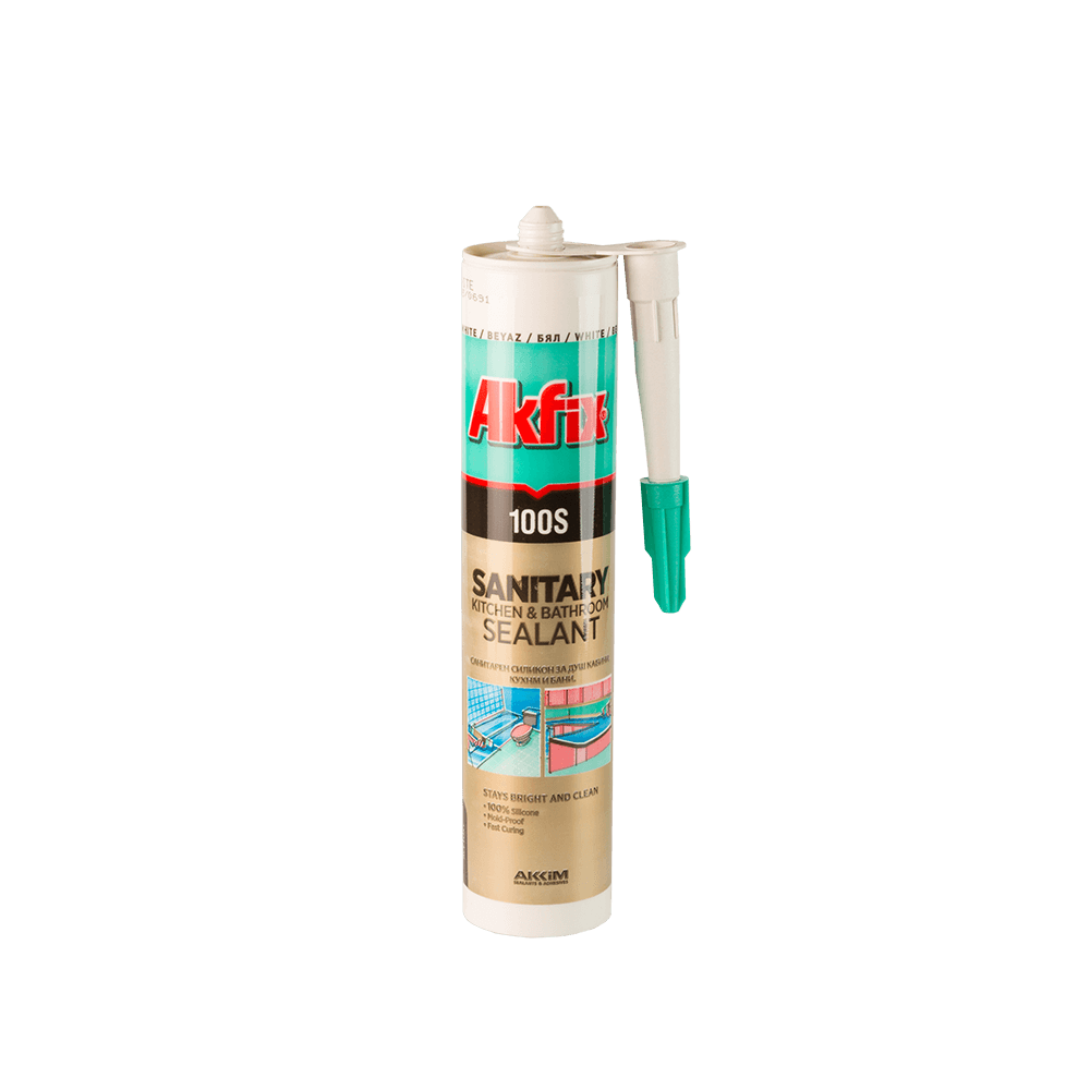 Silicon sanitar Akfix 100 S, 280 ml, alb