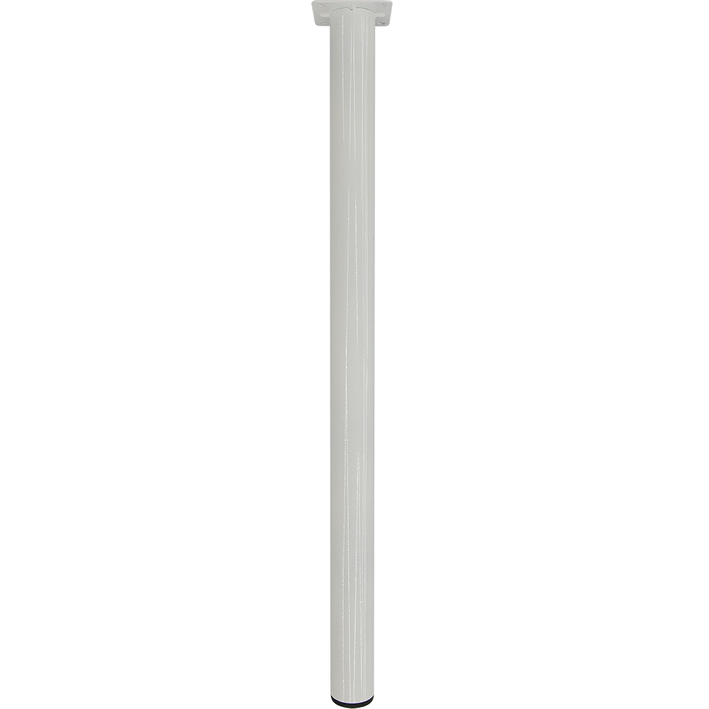 Picior rotund pentru masa, metal, alb, 400 mm imagine 2021 mathaus