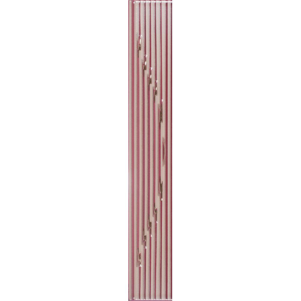 Brau faianta bordo, Kai Cermics Sorel Bordo Lux, lucios, 6 x 40 cm
