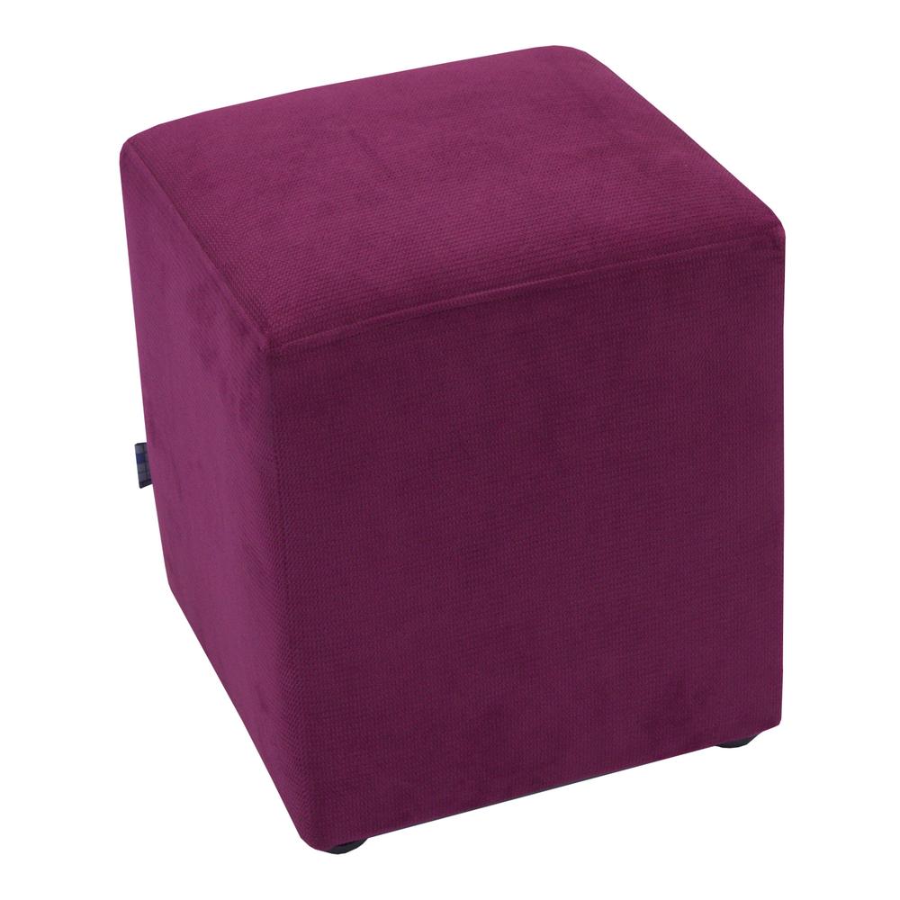 Taburet Cube tapiterie stofa mov K5 45x37x37 cm