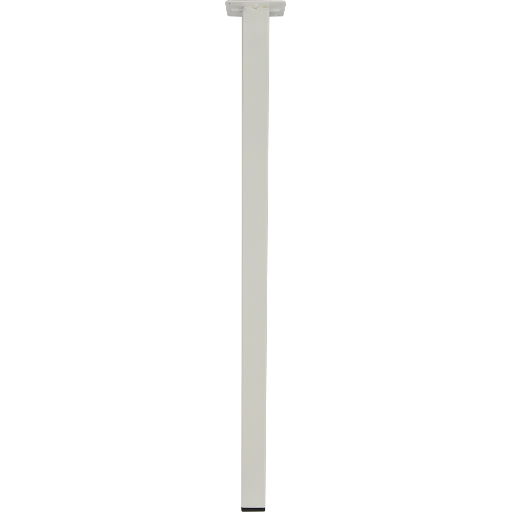 Picior patrat pentru masa, metal, alb, 500 mm imagine 2021 mathaus