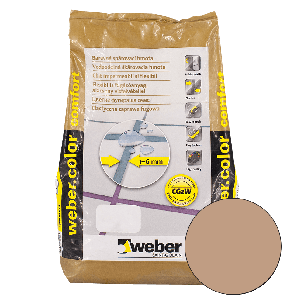 Chit de rosturi Weber Color Comfort, brick, 2 kg imagine 2021 mathaus