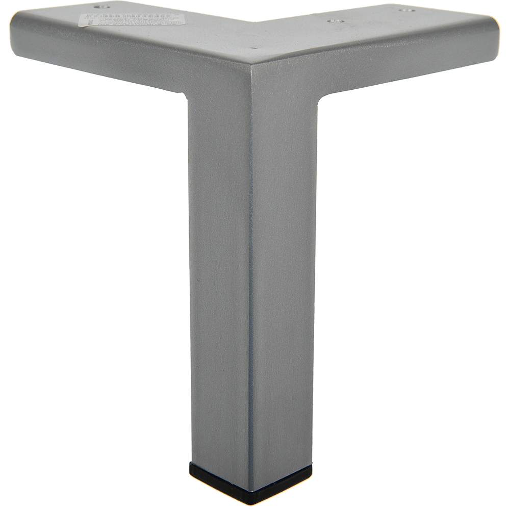 Picior pentru canapea, metal cromat mat,  25 x 25 mm, H: 120 mm imagine MatHaus.ro