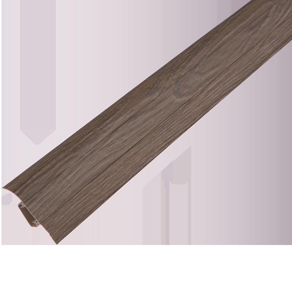 Plinta parchet, cu canal dublu, PVC, stejar almedo, 2500 mm imagine MatHaus