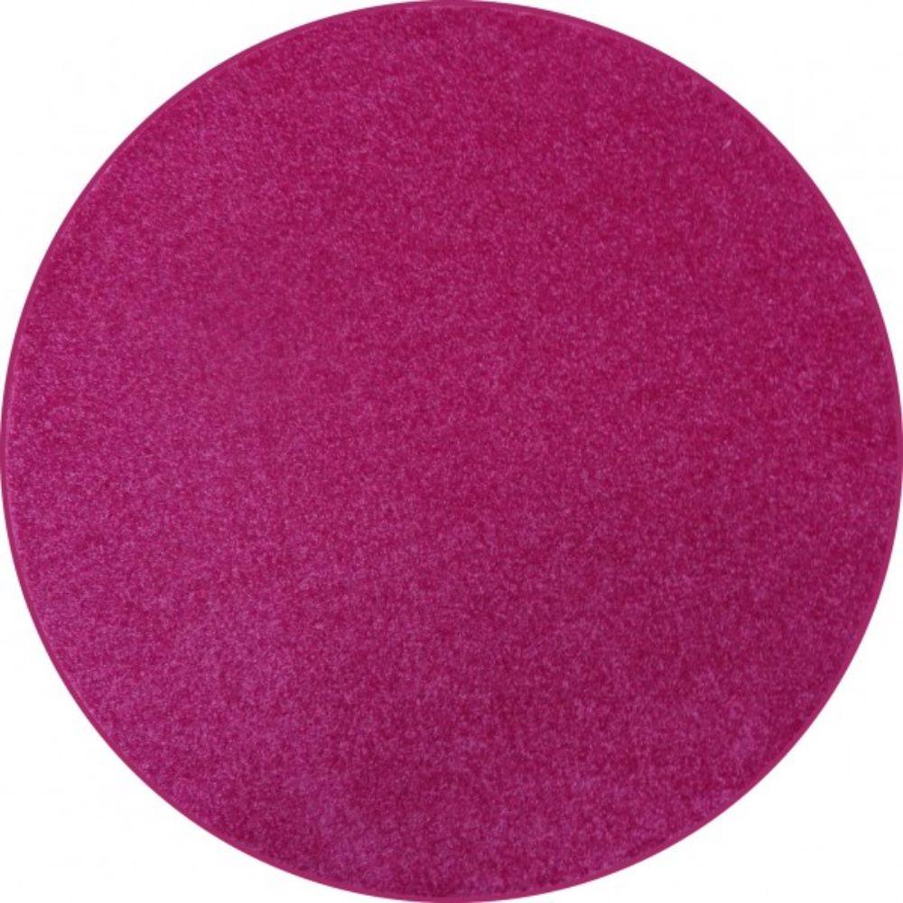 Covor rotund Rainbow, polipropilena friese, model modern roz, diametru 60 cm mathaus 2021