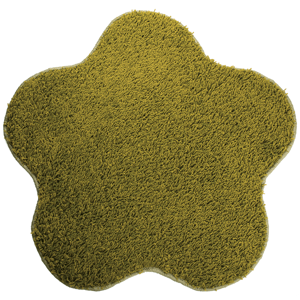 Covor modern Mistral, polipropilena, model floare mar verde 40, 80 cm imagine MatHaus