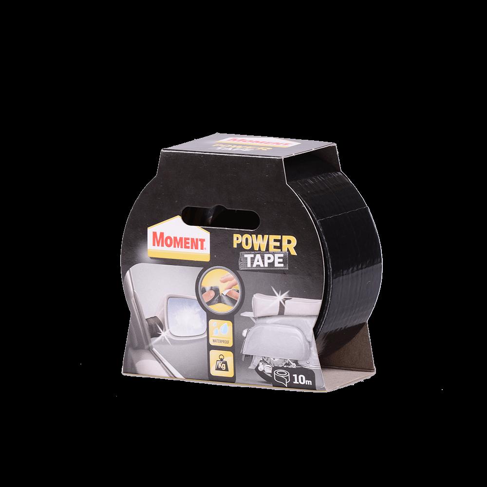 Banda adeziva Moment Power Tape, negru, 50 mm x 10 m