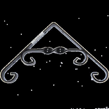 Consola decorativa, otel, negru, 155 x 155 x 14 mm