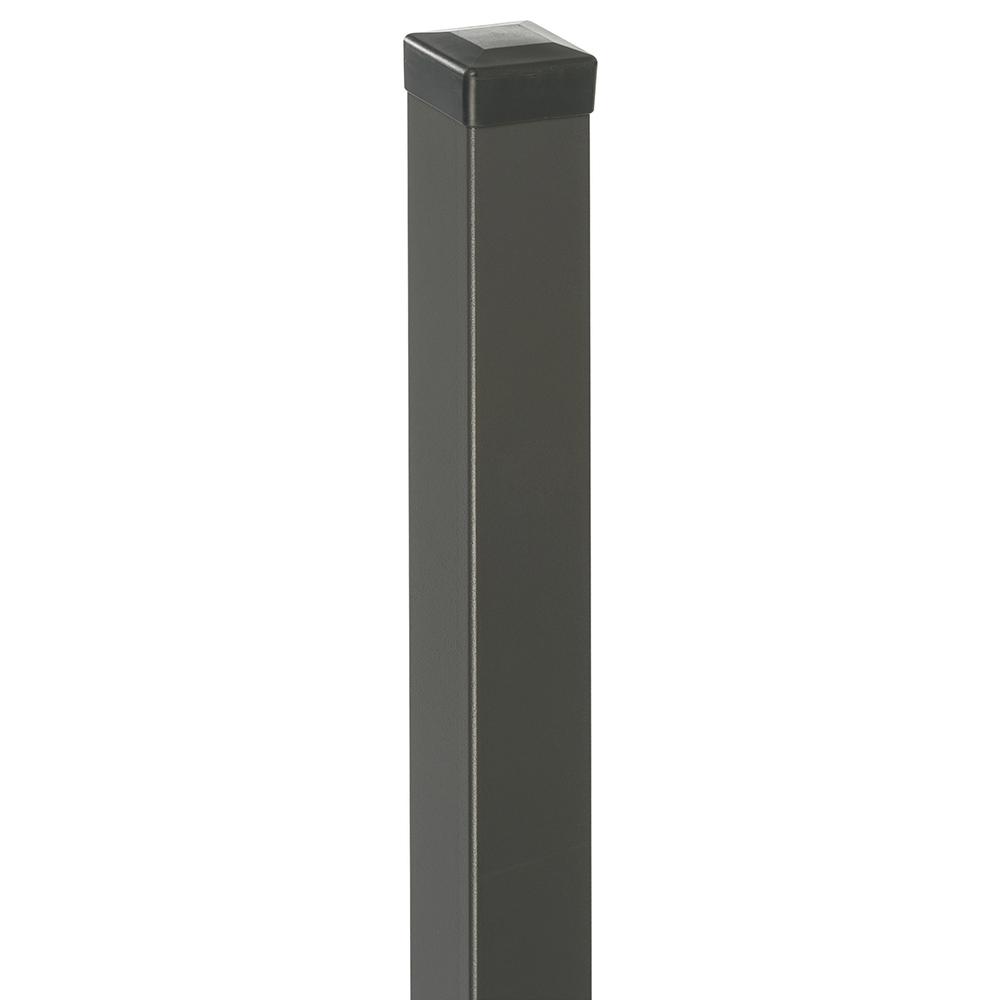 Stalp pentru panoul de gard Cristal, otel galvanizat, gri antracit, 200 x 5 x 5 cm imagine MatHaus