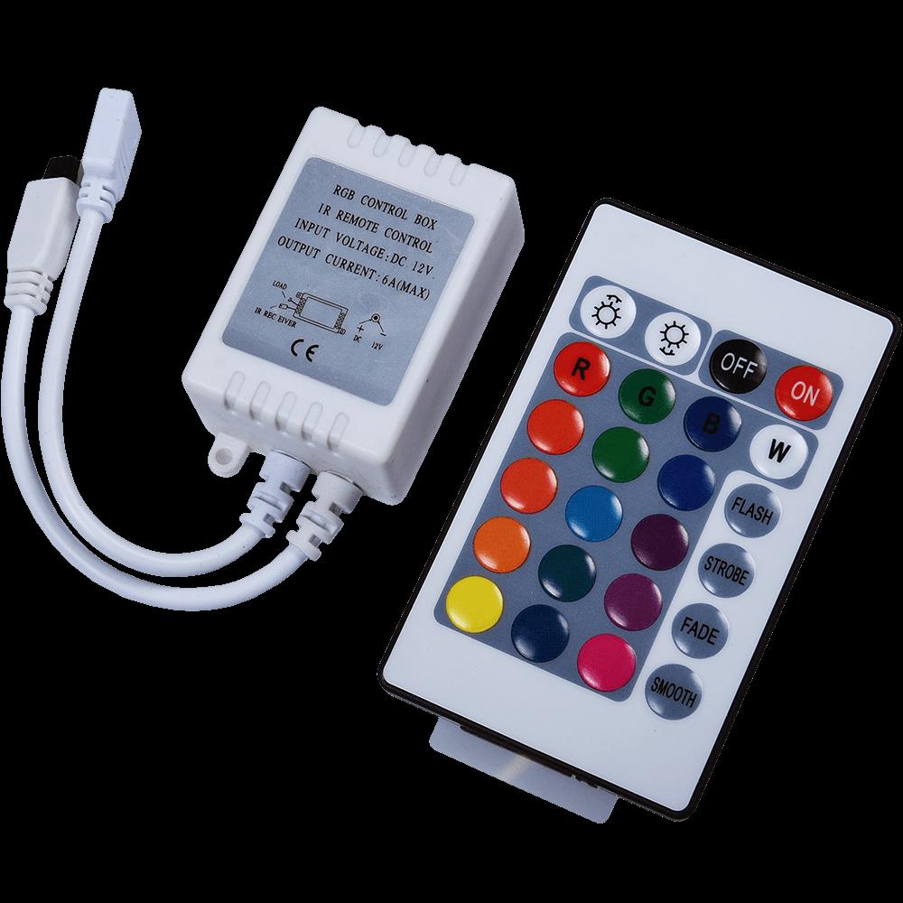 Controler + Telecomanda banda LED Flink, 12 V imagine 2021 mathaus