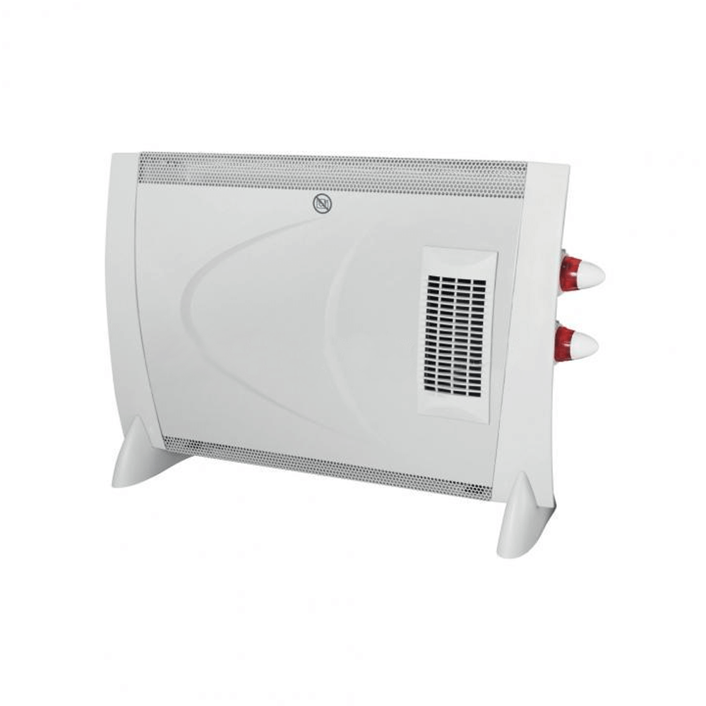 Convector electric cu ventilator FK 190 Turbo Somogyi, portabil, 2000 W, 68 x 46,5 x 19 cm, 2 trepte, termostat mecanic, protective impotriva supraincalzirii, IP20 mathaus 2021