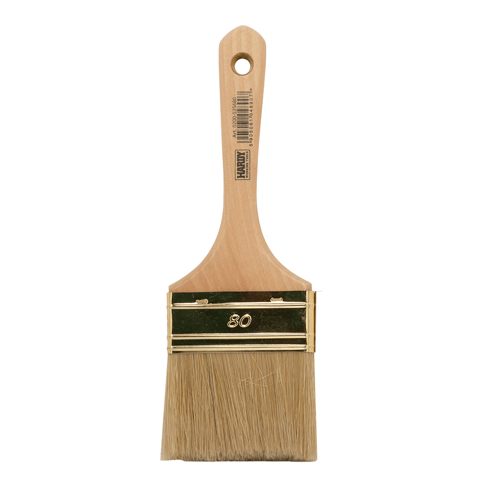 Pensula pentru vopsit seria 53, latime 80 mm, fir natural si maner din lemn