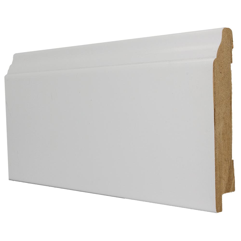 Plinta parchet, MDF, alb, 2800x95x16 mm imagine MatHaus